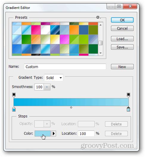 gradient photoshop create blue color drag make tutorial create