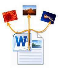 Extract images from word documents