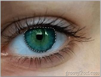 Adobe Photoshop Basics - Human Eye select eye layer