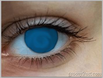 Adobe Photoshop Basics - Human Eye smudge color