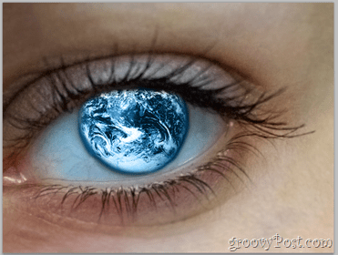 Adobe Photoshop Basics - Human Eye add globe to eye