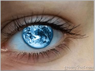 Adobe Photoshop Basics - Human Eye add globe to eye