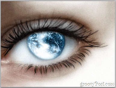 Adobe Photoshop Basics - Human Eye add filter for artistic look