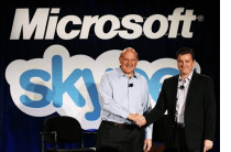 Skype sold to Microsoft for 8 Billion dollars, and Steve Ballmer looks ecstatic