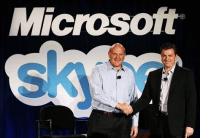 Skype sold to Microsoft for 8 Billion dollars, and Steve Ballmer looks ecstatic