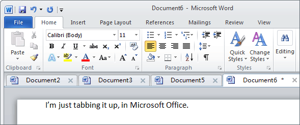 Microsoft Office plugin, Office Tabs, brings tab view to office 2003, 2007, and 2010