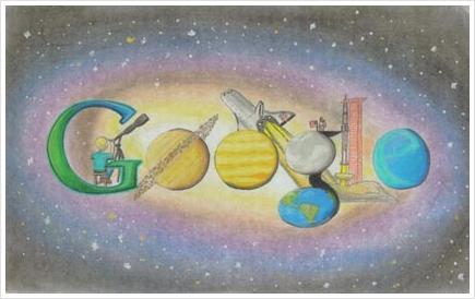 My galaxy google doodle