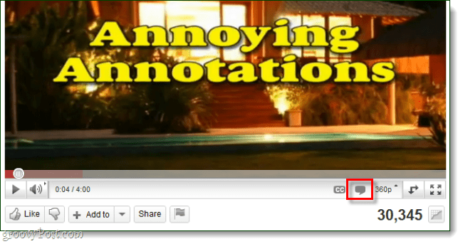 enable annotations for youtube