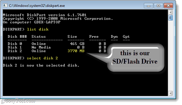 find your sd flash drive