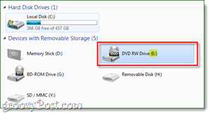 In My Case The DVD Drive Is Assigned Letter E So That What Ill Be Using Next Step