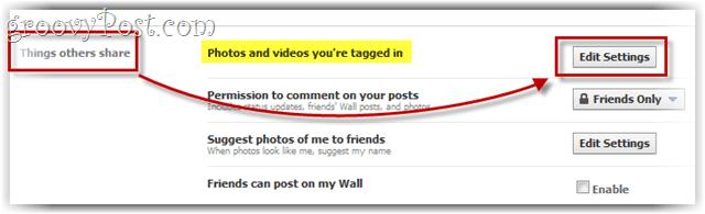 facebook privacion options menu
