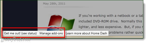 disable firefox home dash