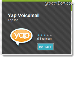 Yap Voicemail from the android market