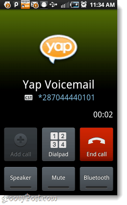 redirect voicemails through Yap