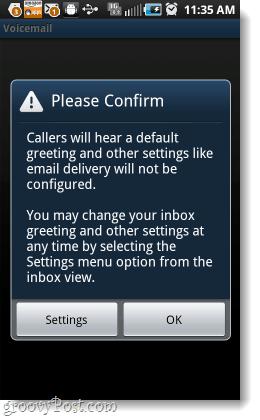 confirm default yap voice greeting