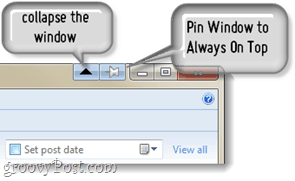 graphical interface to pin windows in 7 or vista