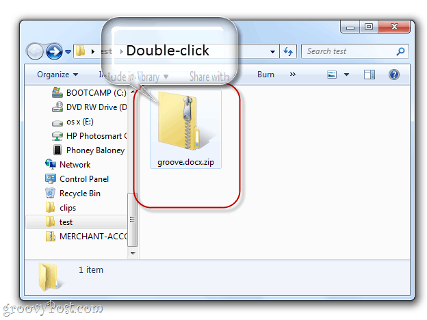 opening a docx file as a folder