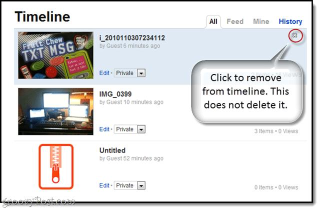 min.us timeline deleting items