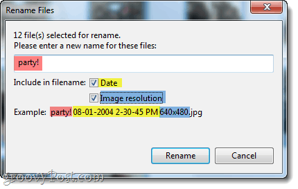 add date and resolution to picasa filenames