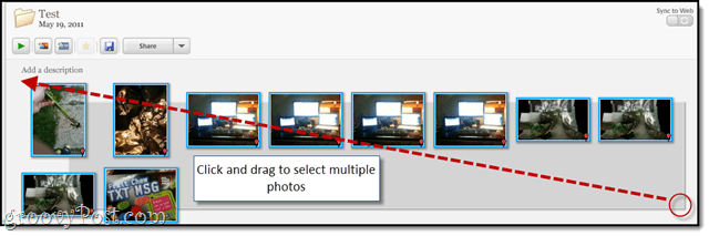 select multiple photos in picasa