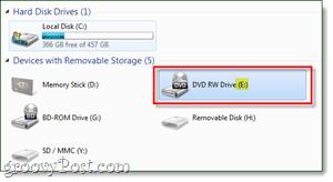 find dvd drive letter