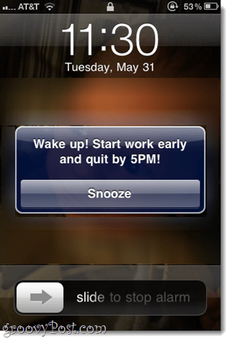 pep talk iphone alarm label