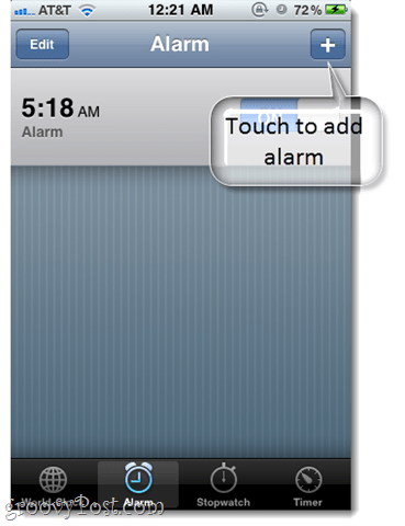 iphone alarm text custom