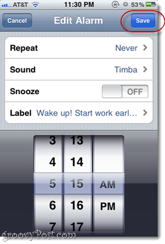 customize iphone alarm