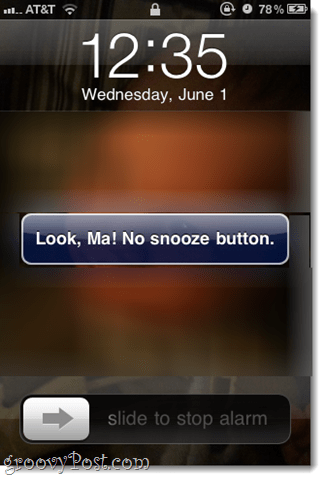 no snooze ios button