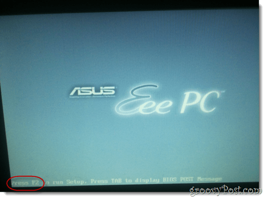 asus eee pc bios setup