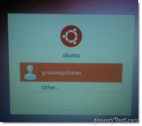 choose the new ubuntu user