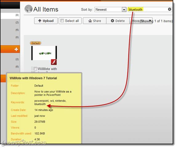 search and filter screencast.com beta
