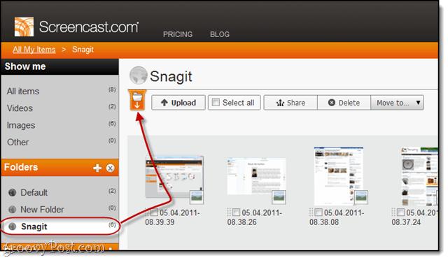 info tab in screencast.com beta