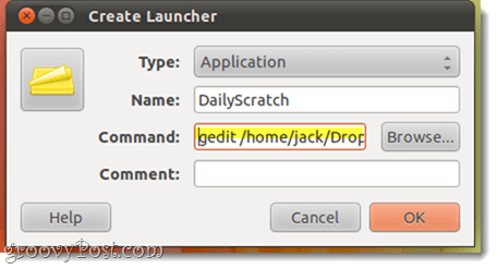 create launcher in ubuntu