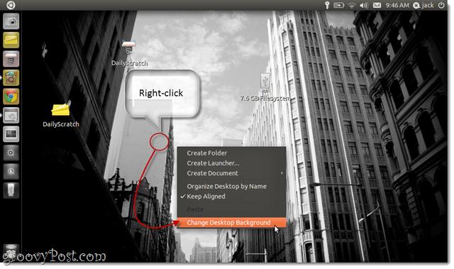 custom background in ubuntu