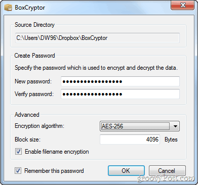 boxcryptor dropbox password protectioin