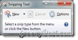 Take Screenshots with Windows 7 with the Snipping Tool