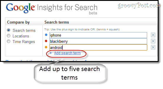 comparing google insights for search terms