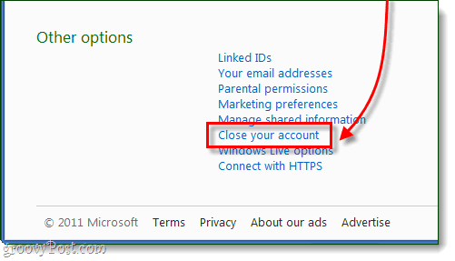 close your hotmail account