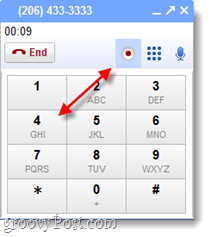 Google voice record calls