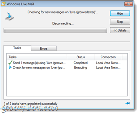 Windows Live mail sync test