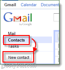 create a new contact in gmail