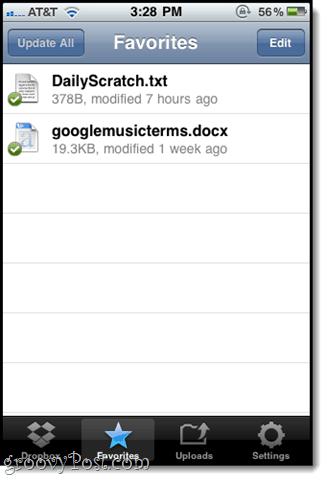 dropbox mobile ios app