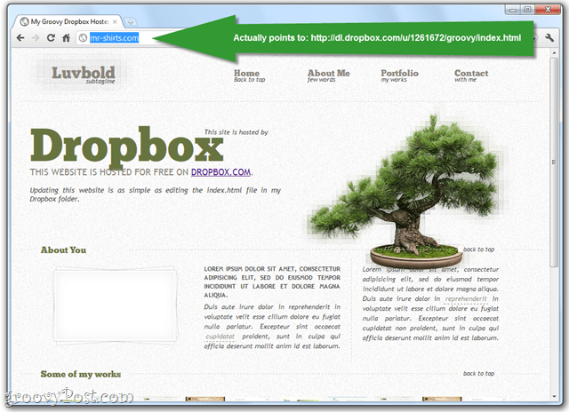 publish webpages via dropbox public folder