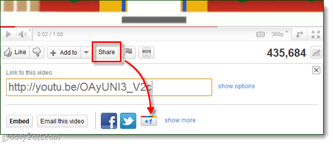 Google +1 button on youtube