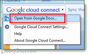 google cloud connect open menu - via googledocs blogspot