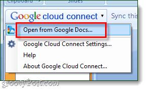 google cloud connect open menu - via googledocs blogspot