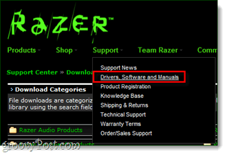 razer drivers software and manuals