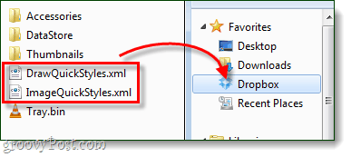 backup snagit styles to dropbox