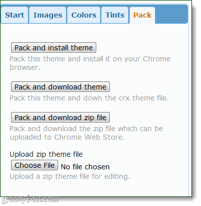 download your own custom chrome themes